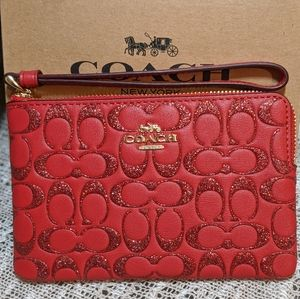 NWT Coach Wristlet with Glitter